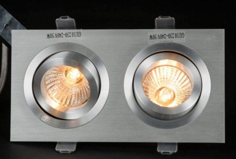 Metalen ronde 2 lichts spot