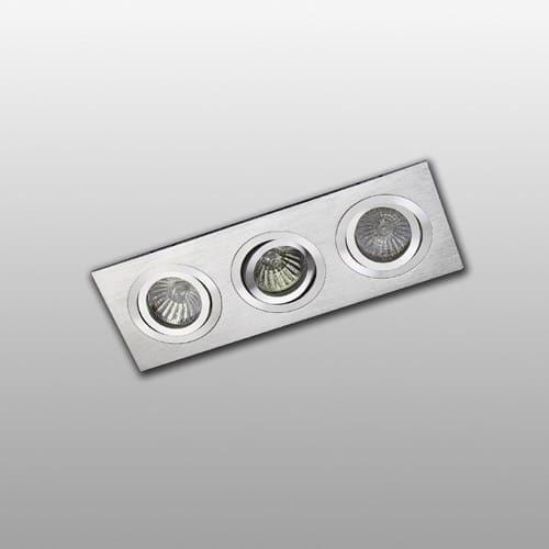 Inbouwspot 3 kantelbaar aluminium rechthoek