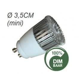 Mini GU10 4,5W vervangt 35W DIMBAAR