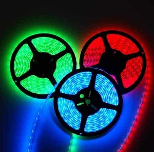 RGB LED STRIP 12V , 300 SMD 5050 LED'S IP67 5m