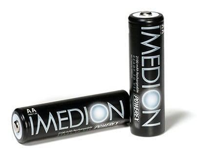Herlaadbare Imedion AA-batterijen - 1,2V 2400mAh - NiMH - 4 stuks