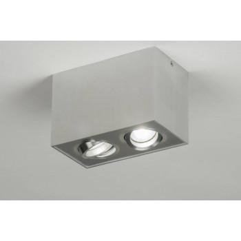 Aluminium opbouwspot met LED