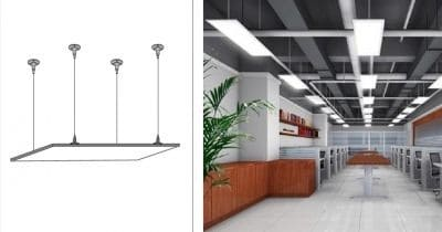 LED paneel afhangset