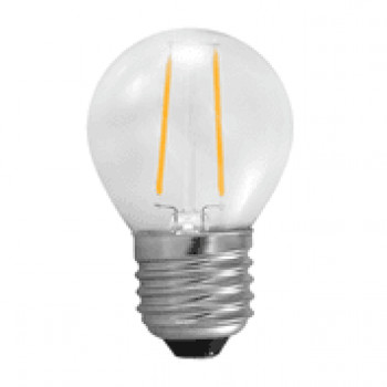 E27 LED filament bollamp 2W - 25W