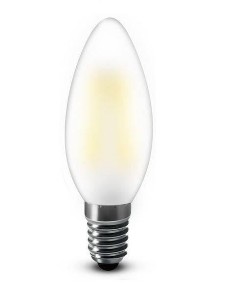 E14 LED kaars 4W 2200k mat warm-wit dimbaar