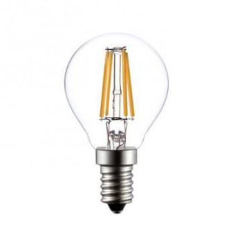 E14 LED filament kogellamp 4W dimbaar 2700k P45